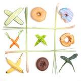 L'énigme d'une alimentation saine Photographie stock libre de droits