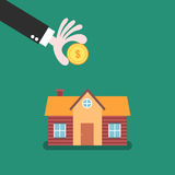 L'épargne à la maison et concept d'investissement illustration stock