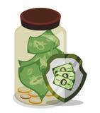 L'épargne de banque et d'argent Images libres de droits