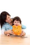 L'épargne de famille Photographie stock
