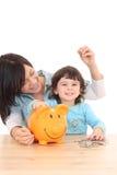 L'épargne de famille Image libre de droits