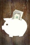 L'épargne l'argent en des dollars US Photos libres de droits