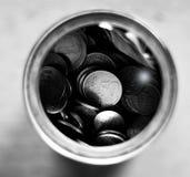L'épargne noire et blanche d'argent Image libre de droits