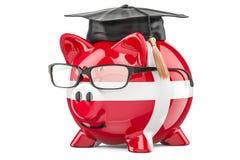 L'épargne pour l'éducation dans le concept du Danemark, rendu 3D illustration libre de droits