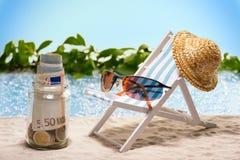 L'épargne pour des vacances Images libres de droits