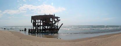 L'épave de bateau de Peter Iredale Photo libre de droits