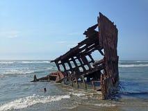 L'épave de bateau de Peter Iredale Images libres de droits