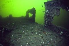 L'épave de l'impératrice de revêtement d'océan de l'Irlande dans le St Lawrence River photographie stock