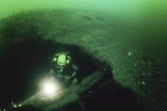 L'épave de l'impératrice de revêtement d'océan de l'Irlande dans le St Lawrence River image stock
