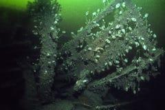 L'épave de l'impératrice de revêtement d'océan de l'Irlande dans le St Lawrence River photos libres de droits