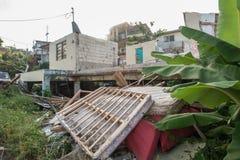 L'épave de l'ouragan Maria Images stock