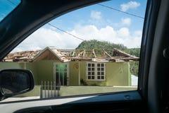 L'épave de l'ouragan Maria photos libres de droits