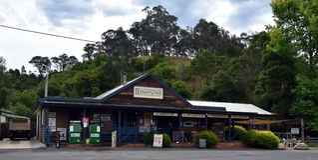 L'épicerie générale de Dargo a été la première fois établie en 1923 Photographie stock libre de droits