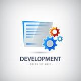 L'épousez, le logo de vecteur de développement de conception, icône avec Photos libres de droits