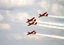 L'équipe acrobatique aérienne d'Aeroshell Photo stock