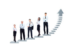 L'équipe d'affaires se tient Image libre de droits