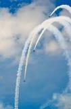 L'équipe d'affichage de Russ explique des vols acrobatiques Photos stock