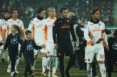 L'équipe de football de COMME Roma Photographie stock