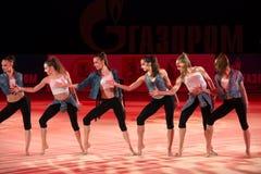 L'équipe de l'Allemagne sur la gymnastique rythmique Images libres de droits