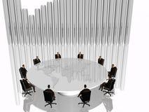 L'équipe de réussite lors du contact. Photos libres de droits
