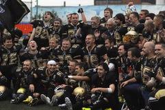 L'équipe de Spartians se réjouissent de la victoire Photo libre de droits