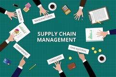 L'équipe de supply chain management travaillent ensemble sur la table Photo libre de droits