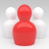 l'équipe du caractère 3d abstrait Images stock