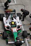 L'équipe Mexique réapprovisionnent en combustible et changent des pneus Images libres de droits