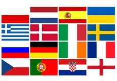 L'équipe nationale marque le championnat européen du football Photo libre de droits