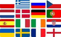 L'équipe nationale marque le championnat européen du football Photos libres de droits