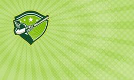 L'équipement de cricket fournit la carte de visite professionnelle de visite Images stock