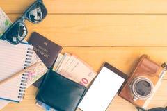 L'équipement pour le voyage et le tourisme Images stock