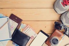 L'équipement pour le voyage et le tourisme Photos stock