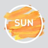 L'été détendent autour de l'affiche acrylique de course Lettrage des textes d'une énonciation inspirée Calibre typographique d'af Photo stock