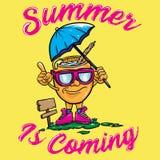 L'été est prochaine conception de vecteur illustration libre de droits
