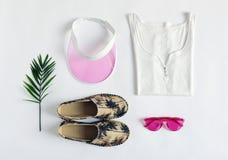 L'été femelle vêtx la disposition Images stock