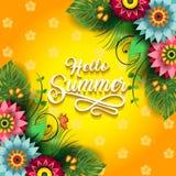 L'été heureux fleurit G Image stock