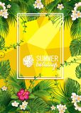 L'été heureux fleurit M Image stock