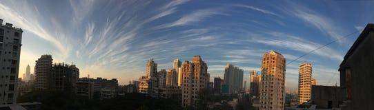 L'été impressionnant opacifie l'Inde de Mumbai Photo libre de droits