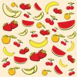L'été porte des fruits fond illustration stock