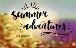 L'été risque l'affiche de lettrage illustration stock