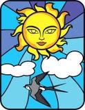 L'été Sun opacifie l'oiseau Photographie stock libre de droits