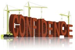 L'établissement de la confiance soit opinion pleine d'assurance Photo libre de droits