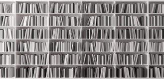 L'étagère avec les livres 3d rendent Photos stock