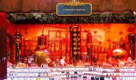 L'étalage de Noël du centre commercial de Printemps, Paris, France Images libres de droits