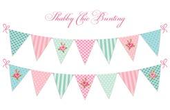 L'étamine chic minable de textile de vintage mignon marque l'idéal pour la fête de naissance, mariage, anniversaire illustration stock