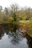 l'étang de Berlin tiergarten Photos libres de droits