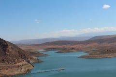 L'étang marocain célèbre de stockage, près d'Agadir Images stock