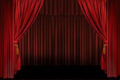 L'étape horizontale drape ouvert pour la présentation Images libres de droits