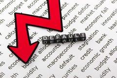 L'état de défaut de l'économie comme a photos libres de droits